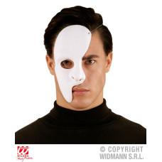 Maschera Bianca Mezzo Viso in plastica