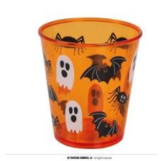 Biccchiere Arancione Halloween 10 cm