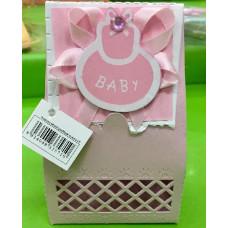 Scatolina portaconfetti Nascita Rosa