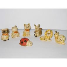 Animaletti piccoli in resina