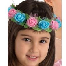 Corona Hippie con Fiori Bambina