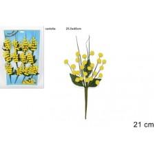 Chiudipacco Mimosa 5 steli 21 cm su cart.