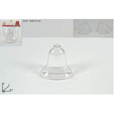 CAMPANA in Plastica Trasparente 9 cm