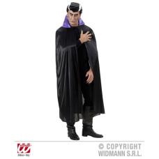 Mantello Nero c/colletto viola 136 cm