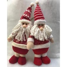 Babbo Natale pupazzo lana (H45x22x11cm)