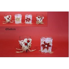 Bicchiere porta-tealight - 6x5 cm