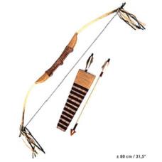 Arco Indiano con borsetta frecce 80 cm