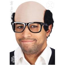 Calotta Stempiato c/capelli neri e occhiali