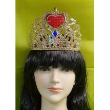 Corona Oro con cuore e cerchietto - 3 col ass