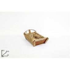 Culla Gesu' Bambino con paglia 9,5x16 cm