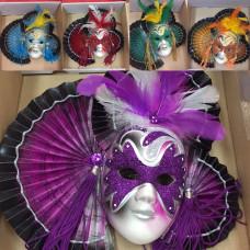 Maschera Veneziana in ceramica da parete - 12 mod ass