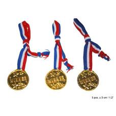 Bst. 3 Medaglie Oro con collana