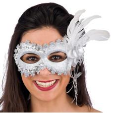 Mascherina Argento con glitter
