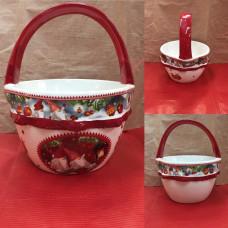 Cestino Tondo in ceramica (H19x15 cm)