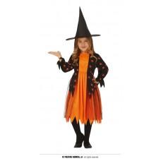 Costume STREGA RAGNO Arancione - Tg 7/9 anni