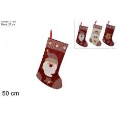 Calza Befana con Soggetti 50 cm - 3 mod ass