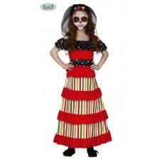 Costume MESSICANA DIA DE LOS MUERTOS - Tg 10/12 anni