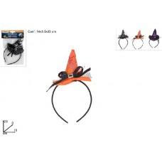 Cerchietto con Cappello Strega - 3 col ass