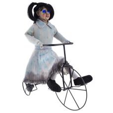 Bambola Assassina su Bici con luce, suono e movimento 85 cm